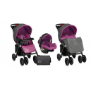 Carucior multifunctional 2 in 1  RIO Grey & Purple Pisa  - BTN00373